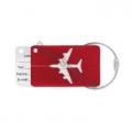 Eticheta metalica bagaje, avion